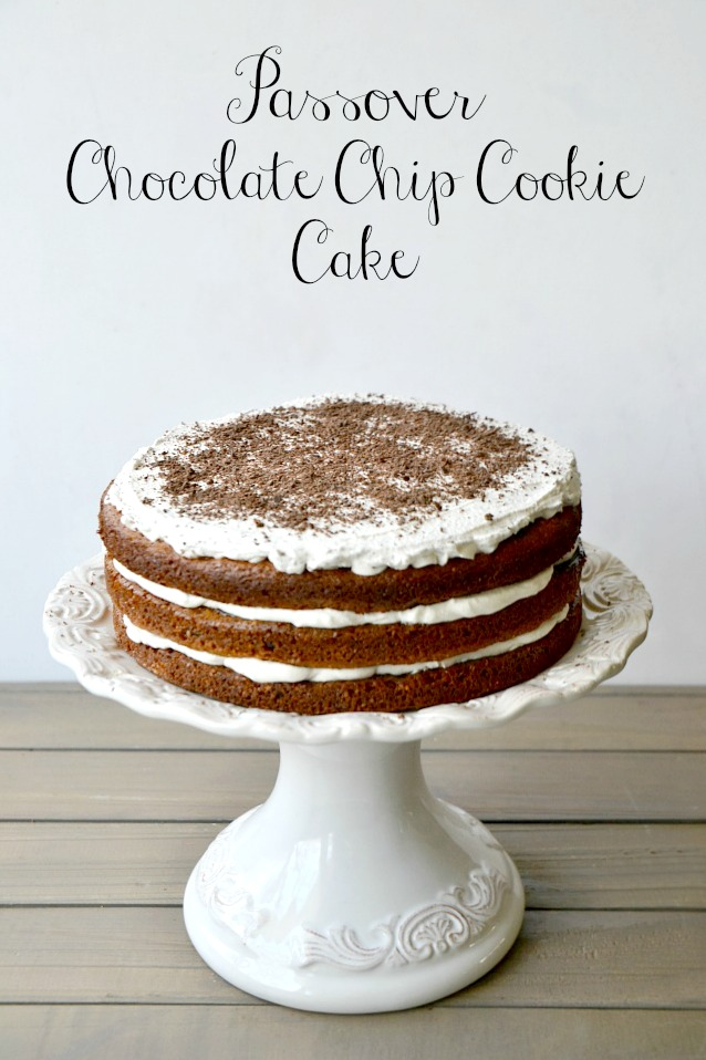 Chocolate chip cookie cake kosher passover jewhungry blog
