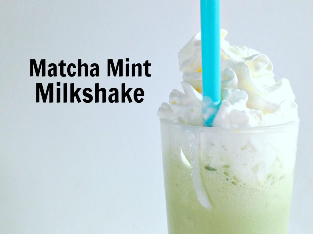Matcha mint milkshake jewhungry kosher blog
