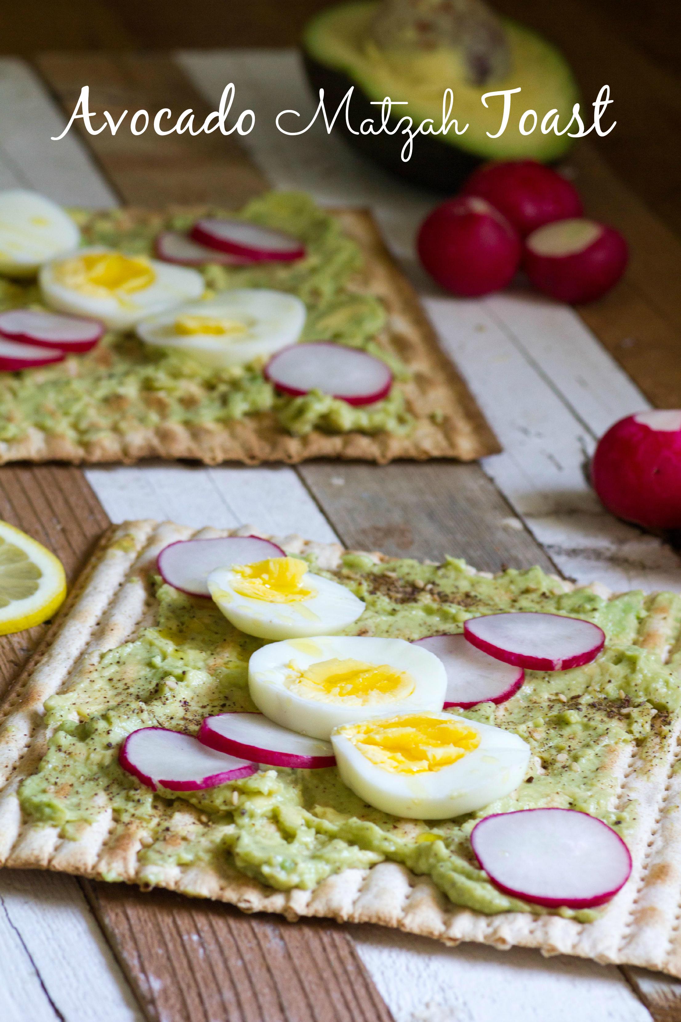 Avocado Matzah Toast Jewhungry Kosher blog