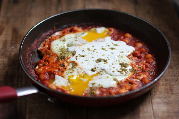 Garbanzo bean shakshuka Jewhungry the blog