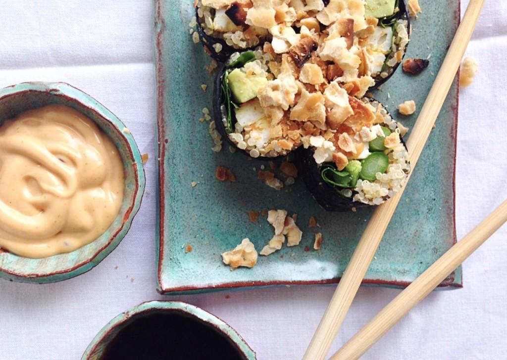 quinoa sushi kosher jewhungry blog